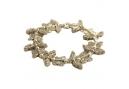 Metalen armband met vlinders en strass