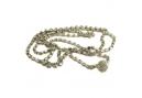 Strass armband/ketting met bolsluiting