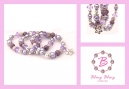 paars lila bling bling set